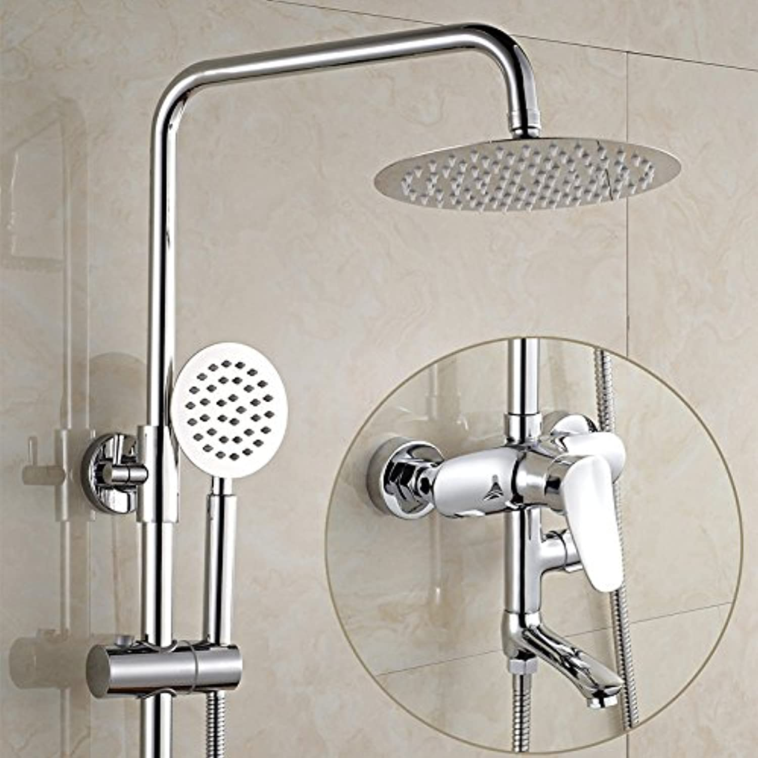 Hlluya Professional Sink Mixer Tap Kitchen Faucet Mixing of hot and cold water faucets full copper shower three stall shower kit to lift mixing of hot and cold pressurized, sharks, Third Gear