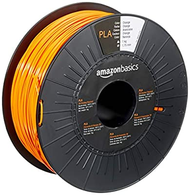 AmazonBasics PLA 3D Printer Filament,1.75mm,Orange,1 kg Spool