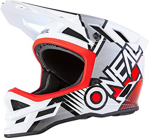 O'Neal Blade Polyacrylite Helmet Delta White/Red XS (53/54 cm), Casco Moto MX-Motocross. Unisex-Adulto, Bianco/Rosso