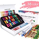 WOSTOO Set Pittura ad Acquerello - 50 PCS - Acquerello Set di 36 Colori ad Acquerello Port...