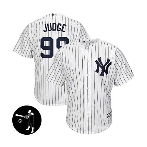 BUY-TO Herren Trikots Baseball Shirt Sweatshirt T-Shirts Yankees # 99 Richter New York,White,Men-XL