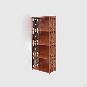 Libreria Sexy Piccola scaffale di bambù 2/3/4/5-tier scaffale in Legno massello Armadio Libero Combinazione Alta capacità Vino Rosso (Dimensioni : 42 * 29 * 130cm)