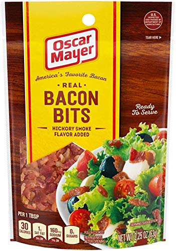 Oscar Mayer Real Bacon Bits with Hickory Smoke Flavor Added (2.25 oz Packages, Pack of 6)