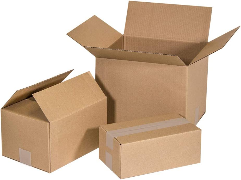 Pack 25 Cajas de Cartón para envíos almacenaje paquetería, Canal Simple Reforzado, Caja almacenaje, Medidas 25x15x10 cm