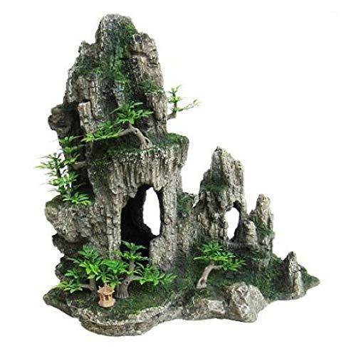 Heritage hb010para Acuario Formación de imitación de rock cave adorno pintado decoración 28cm Ocultar