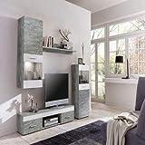 WILMES Easy Wohnwand, Holzwerkstoff, Weiß, 33x210x160 cm - 2
