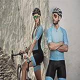 Jerseys de mujer Jumpsuit, conjunto de verano, Ropa de bicicleta de montaña □ Ropa de ciclista (Color : 6, Size : X-Large)