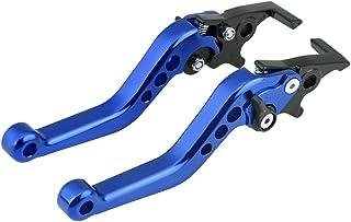 Bediffer Doppelscheiben Motorbremshebel Motorbremskupplung 1 Paar CNC Aluminium Motorlegierungs Bremshebel Universal(Blau)