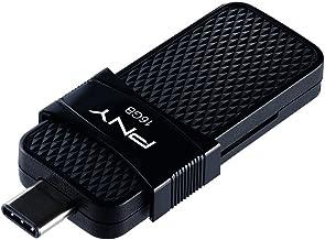 PNY P-FD16GOTGSLTC-GE 3.1 16 GB Duo-Link OTG Type-C USB Flash Drive
