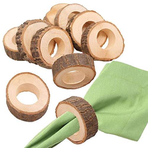 Best Design 10pcs Natural Wooden Napkin Rings Decor Crafts 5.5 7cm Diameter Wedding, Napkin Paper Rings - Dinner Napkins Rings, Butterfly Napkin Holders, Napkin Rings Tea Party, Table Napkin