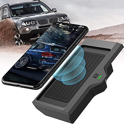 Cargador de Coche Inalámbrico, para BMW X3 X4 2018 2019 2020 Panel de Accesorios de Consola Central con Botón de Encendido E Indicador de Carga QC3.0 Almohadilla de Carga Inalámbrica USB