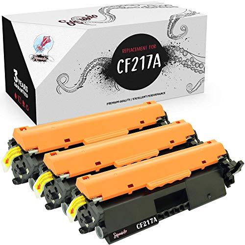 Squuido 3 Cartuchos de tóner CF217A compatibles para HP Laserjet Pro MFP M130nw M130fn M130fw M130a M102a M102w | Alto Rendimiento 1600 páginas