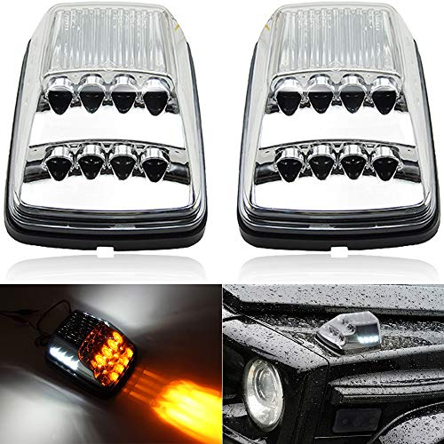 Front Wing Turn Signal Light Kits For 1990-2018 Mercedes W463 G-Class G500 G550 G600 G55 G63 AMG Amber LED Sequential Turn Signal Corner Lights White LED Position Lights Clear Lens E4 Approved