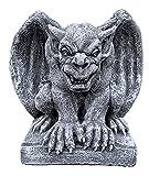 Steinfigur hockender Gargoyle Torwächter frostfest wetterfest Steinguss