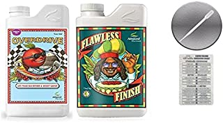 Advanced Nutrients Overdrive and Flawless Finish 1 Liter with Conversion Chart and 3ml Pipette
