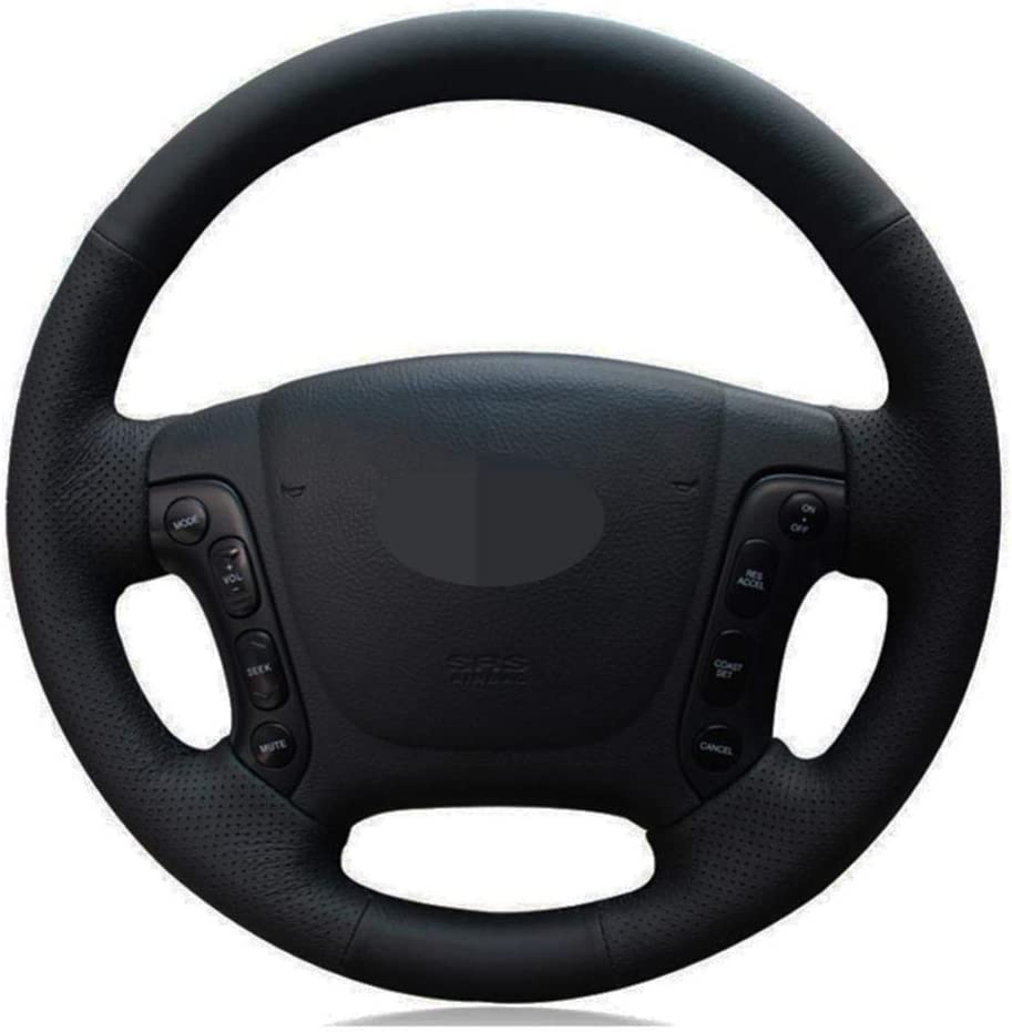 MDHANBK Car 2021new shipping free shipping Steering Wheel Tucson Mall Cover Black Leather DIY Hand-Stitched