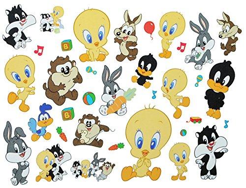 alles-meine.de GmbH 35 TLG. XL Set: Wandtattoo / Sticker - Baby Looney Tunes Tweety - Wandsticker Aufkleber für Kinderzimmer Mädchen Jungen Kinder Baby - Wandaufkleber + Fensters..