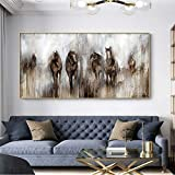 Vintage horse painting lienzo pintura living room poster animal art mural decoración moderna pintura sin marco 1739 Horse 60x120cm