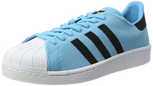 adidas Unisex Adults' Superstar Sneakers, Blue Brcyan Cblack Ftwwht, 11 UK