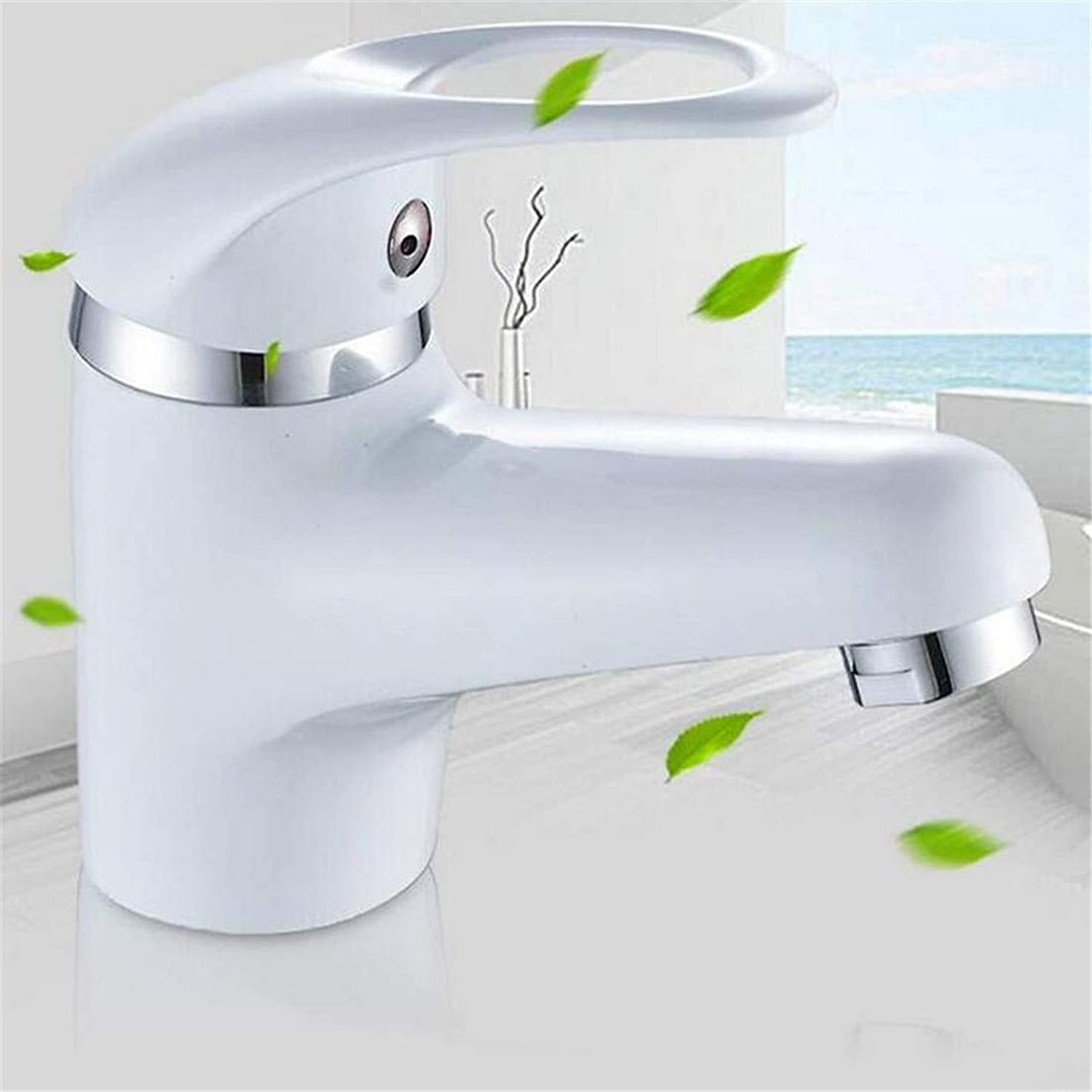 Faucet Vintage Plated Deck Mounted Faucet Faucet Washbasin Mixer Bathroom Faucet Single Handle Waterfall Faucet Brass Vessel Sink Water Tap