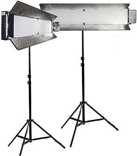 Ikan /IFD1024-SP-2PT-KIT with 2X IFD1024-SP LED Spotlight Daylight Studio Light Black
