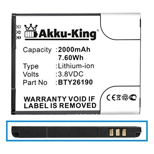 Akku-King Akku kompatibel mit Mobistel BTY26190, BTY26190Mobistel/STD - Li-Ion 2000mAh - für Cynus T8
