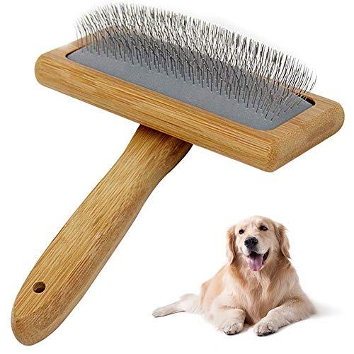 Hundebürste,Hundehaarbürste,Softbürste,Robuste Universal-Pflegebürste aus Holz, auch als Fellbürste für Haustiere,Hunde und Katzen