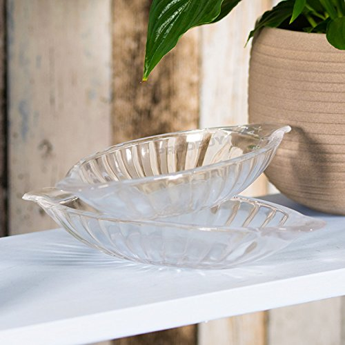 24cm Glass Banana Split Dishes/Boats (4 x Dishes)