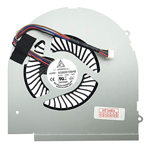 Ventilador de refrigeración compatible con Lenovo IdeaPad Y580 (M772FGE), Y580 (M772RGE), Y580 (M772DGE), Y580 (M779HGE)