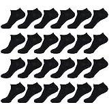 Enerwear-Coolmax 48Pack Women's Cotton Low Cut No Show Ankle Socks (9-11/48 Pair, Black)