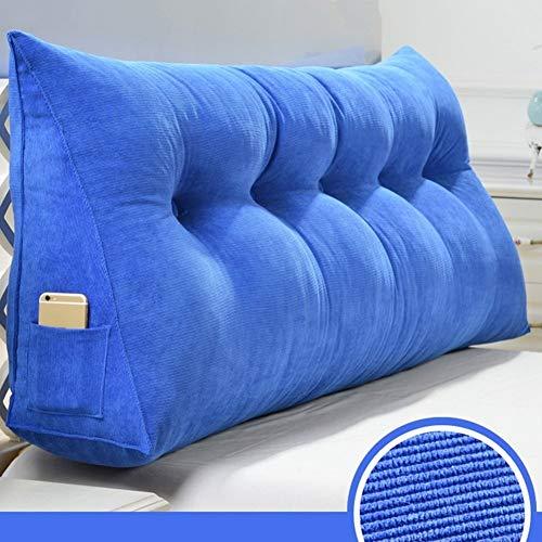 J+N Kopfbrett Triangle Nachtrückenkissen Kissen/Sofa Soft Bag/Zwei-Personen-Bett Große Kissen/Bett Kissen - 5 Farben, 9 Größen (Farbe: Braun, Größe: 120 cm), Größe: 60 cm, Farbe: weinrot Kopfstütze