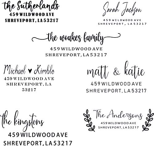 Custom Address Stamps Self Inking 7 Designs to Choose from! Return Address Stamp Stamper Self Inking Personalized Customized Stamp Return Address Floral Wedding Script Labels Mail