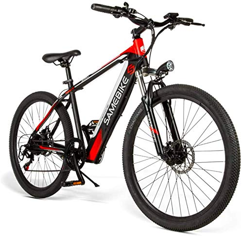 min min Bike,Adult 26-Inch Electric Mountain Bike, E-MTB Magnesium Alloy 400W 48V Removable Lithium-Ion Battery All-Terrain 27-Speed Male and Female Bicycle
