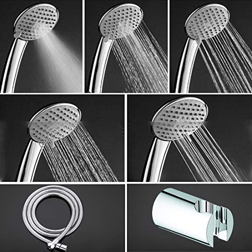 ALTON SHR20765 5-Function Hnad Shower With SS-304 Grade 1.5 Meter Flexible Hose Pipe and Wall Hook (Chrome)