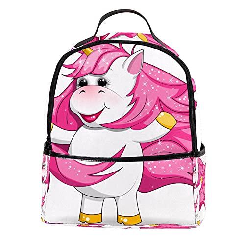 ATOMO Mini mochila casual lindo unicornio de dibujos animados comer sabroso caramelo pu cuero viaje bolsas de compras Daypacks