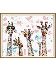 SULISO Pintar por Numeros, Pintura por Números Kits, Colorear por Numeros para Adultos Niños, DIY Decoraciones para el Hogar, Sin Marco (40x50CM)