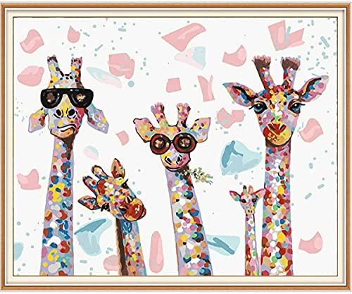 SULISO Peinture par Numéro DIY, Kits de Peinture au Numéro Loisir Creatif, Peinture par Numero pour Enfants/Adultes/Seniors, sans Cadre (40 x 50 CM)