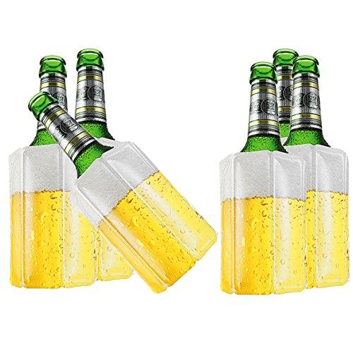 TS Exclusiv Bier Kuehlmanschette Bierkühler Flaschenkühler Getränkekühler (6er Pack)