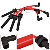 AJP Distributors Compatible/Replacement For Mitsubishi Eclipse Eagle Talon 4G63 Turbo 2.0L Jdm Performance Racing Spark Plug Wire Ignition Core Cable Red