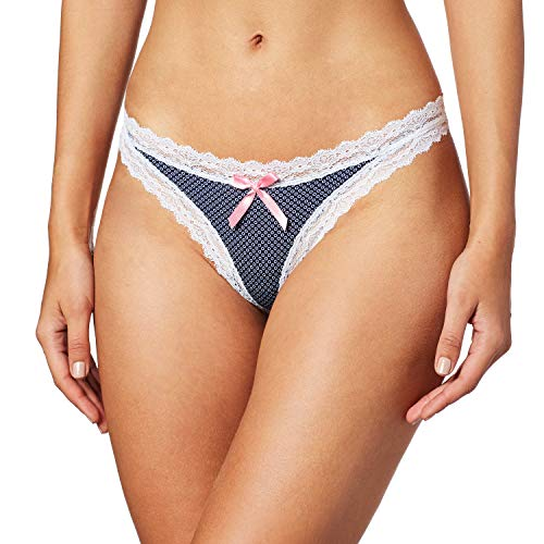 Vicky Form 0010248 Bikini para Mujer, Color Marino-Estampado, Mediana