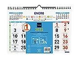 Finocam - Calendario 2022 M - Números Grandes Español, Pared M - 300x210 mm