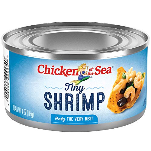 Chicken of The Sea Tiny Shrimp, 4oz – Gluten Free, High in Omega 3 Fatty Acids & Protein