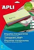 Apli Paper Ref. 10053 Etiquetas Adhesivas Poliéster Transparente Inkjet A4