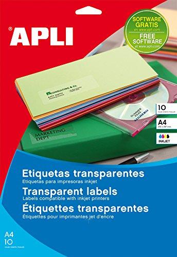 Etiquetas Adhesivas Transparentes Impresora Marca APLI