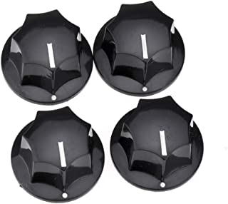 Musiclily Pro Imperial Inch Size Large Volume Jazz Bass Knobs for USA Made JB Style Bass, Black (Set of 4)