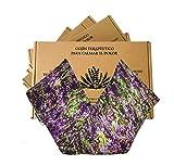 Saco semillas microonda, saco térmico de semillas con funda lavable 100% algodón con lavanda natural y trigo(48x15). Cojín térmico para cervicales y cólicos. Retención de frió y calor (lavanda)