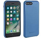 StilGut Premium Hülle kompatibel mit iPhone 8 Plus/iPhone 7 Plus aus Nappaleder, Aquablau
