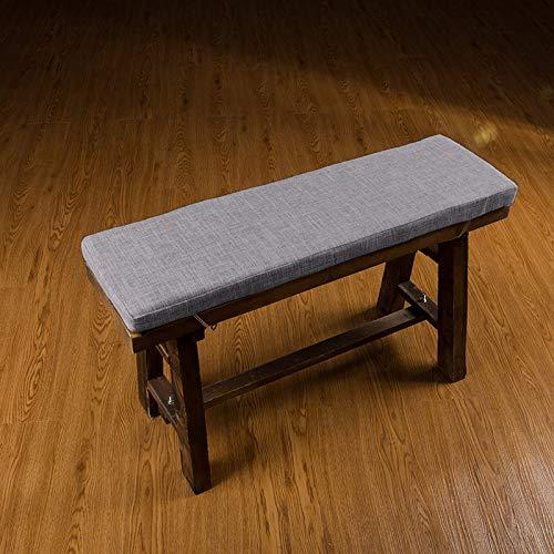 jHuanic Lange Gartenbank-Auflage für Sofa, Innenmöbel, Kissen mit Bändern, für Büro, Schaukel, Terrasse, Stuhl, Reise, 2- oder 3-Sitzer (grau, 80 x 40 x 4 cm)