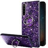 URFEDA Glitter Brillante Cover Compatibile con Redmi Note 8T, Custodia con Anello Ring Sup...