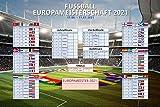 empireposter Fussball EM Planer 2021 Europa 91,5x61 Maxi